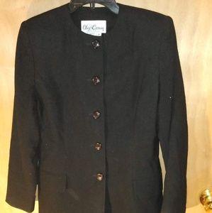 Black Oleg Cassini coat